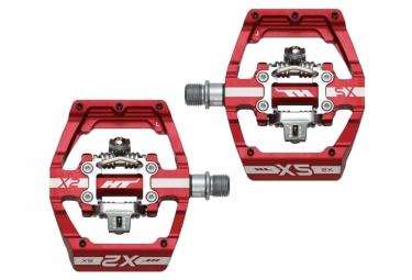 Paire de Pédales Automatiques HT X2 SX Rouge