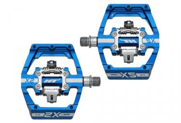 Paire de pedales automatiques ht x2 sx bleu