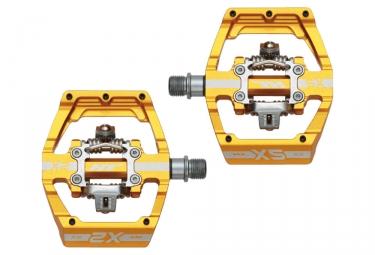 paire de pedales automatiques ht x2 sx jaune