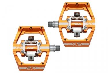 Paire de Pédales Automatiques HT X2 SX Orange