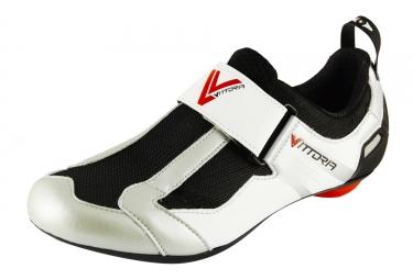 Paire de chaussures triathlon vittoria thl blanc noir 42