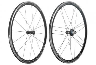 Paire de roues campagnolo scirocco c17 a pneus campagnolo