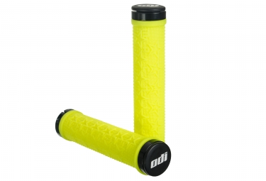 paire de poignees odi machine lock on 143mm jaune fluo