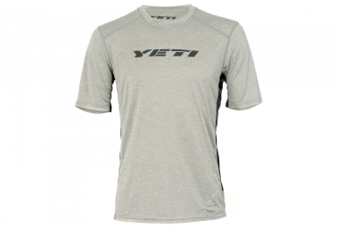 Maillot manches courtes yeti tolland gris s