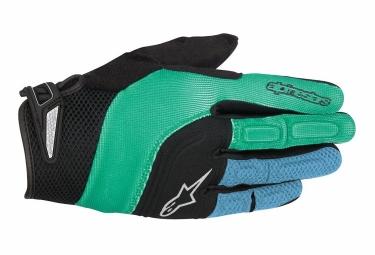 Paire de gants alpinestars velocity vert bleu xl