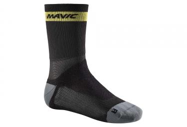 Paire de chaussettes hiver mavic ksyrium pro thermo noir gris 35 38