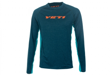 maillot manches longues yeti tolland bleu s