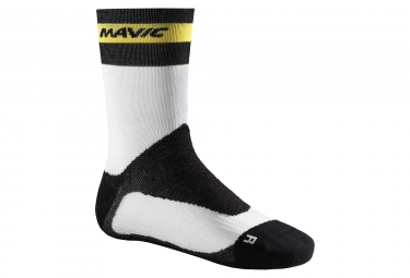 paire de chaussettes hiver mavic ksyrium pro thermo blanc noir 39 42
