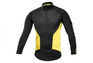 veste thermique mavic cosmic elite thermo noir jaune xl
