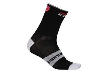 Calcetines Castelli Rosso Corsa 13 - Noir / Blanc