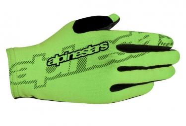 Paire de gants alpinestars f lite vert noir m