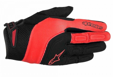 paire de gants alpinestars velocity noir orange s