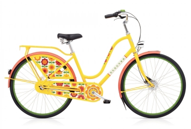 ELECTRA City Bike Amsterdam FASHION 3i Forget-Me-Not/Yellow