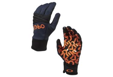 gants oakley factory park bleu noir m