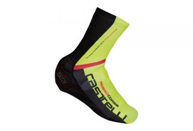 couvre chaussures castelli aero race noir jaune 40 44