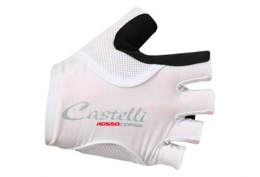 Paire de Gants Femme Castelli Rosso Corsa Pave Blanc Noir