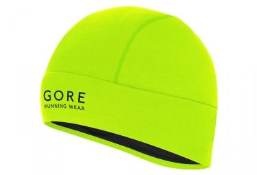 bonnet gore bike wear essential light jaune fluo