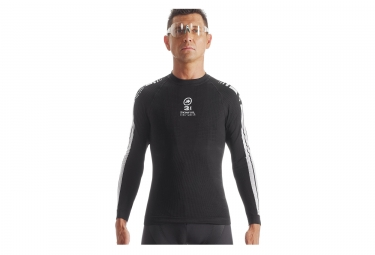 Sous maillot manches longues assos skinfoil earlywinter evo7 noir blanc s m