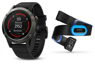 GARMIN Fenix 5 Performer HRM-Tri GPS Watch Grey