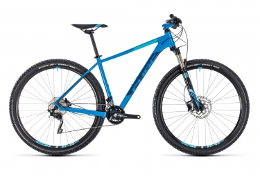 vtt semi rigide cube 2018 attention sl 29 shimano deore m6000 10v bleu 19 pouces 180 190 cm