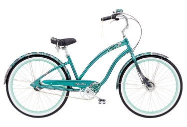 velo de ville electra white water 3i 26 green metallic