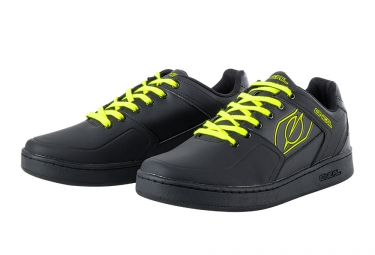 Oneal Pinned MTB Shoes Black Neon Yellow