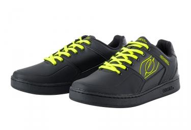 Chaussures VTT Oneal Pinned Noir Jaune Fluo