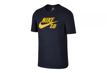 T shirt nike sb logo noir jaune s