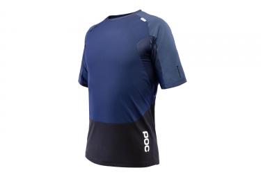 maillot manches courtes poc pro dh bleu noir xl