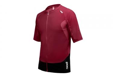 maillot manches courtes poc resistance pro enduro rouge xl