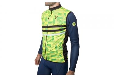 veste coupe vent deperlant sans manches lebram croix de fer jaune fluo vert fluo l