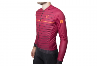 Maillot manches longues lebram ventoux rouge coupe ajustee s