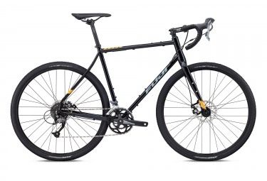gravel bike fuji 2018 jari steel 2 5 shimano claris 8v noir orange 52 cm 152 168 cm