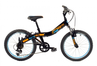 vtt enfant diamond y20 shimano tourney 6v noir orange bleu