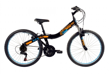 vtt enfant diamond y24 shimano tourney 6v noir orange bleu