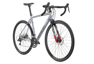 Gravel Bike SARACEN 2018 HACK 01 Shimano Sora R3000 9S Grey Black Red