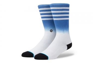 paire de chaussettes stance bobby blanc bleu 43 46