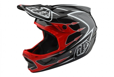 casque integral troy lee designs d3 composite corona rouge noir 2018 xl 60 61 cm