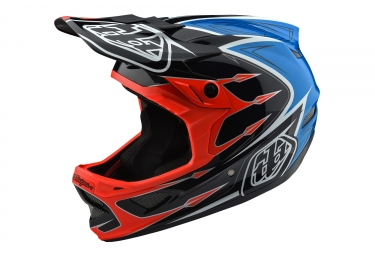 casque integral troy lee designs d3 composite corona bleu orange 2018 xl 60 61 cm
