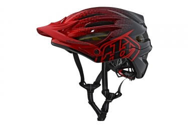 Casque troy lee designs a2 stardust mips rouge noir 2018 xl xxl 60 62 cm