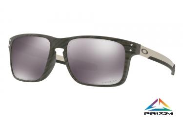 paire de lunettes oakley holbrook mix woodgrain prizm black ref oo9384 0457