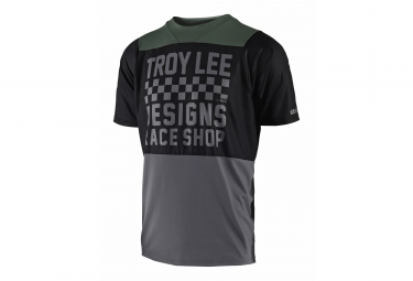 Troy Lee Designs Skyline Checker Short Sleeves Jersey Grey Black 2018