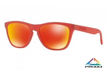 paire de lunettes oakley frogskins spectrum collection ir red prizm ruby ref oo9013 c855