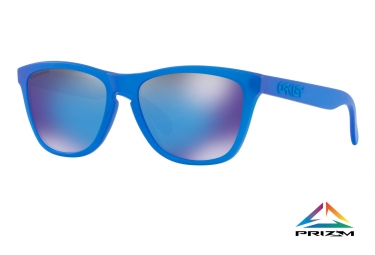 paire de lunettes oakley frogskins spectrum collection x ray blue prizm sapphire ref oo9013 c755