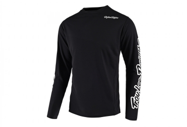 Troy Lee Designs Sprint Solid Youth Long Sleeve Jersey Black 2018