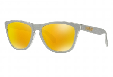 Paire de lunettes oakley frogskins checkbox collection checkbox silver fire iridium