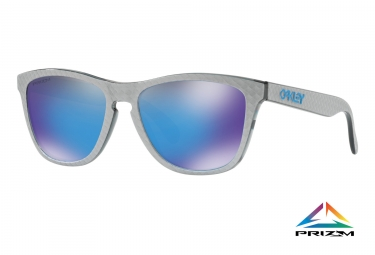 paire de lunettes oakley frogskins checkbox collection checkbox silver prizm sapphir