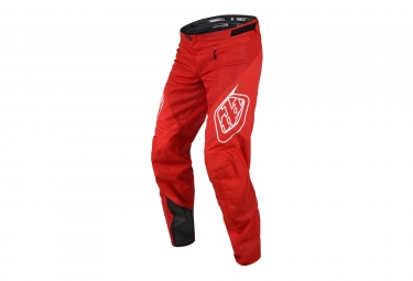 Pantalon troy lee designs sprint solid rouge 2018 28