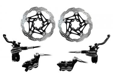 Hope Brake set Tech 3 V4 standard hose - HOPE Floating Disc Black