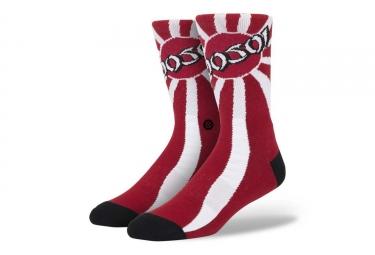 Paire de chaussettes stance hosoi rouge 43 46